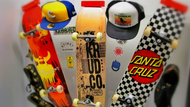 Skateboards at the Museum of Play in Rochester, New York
