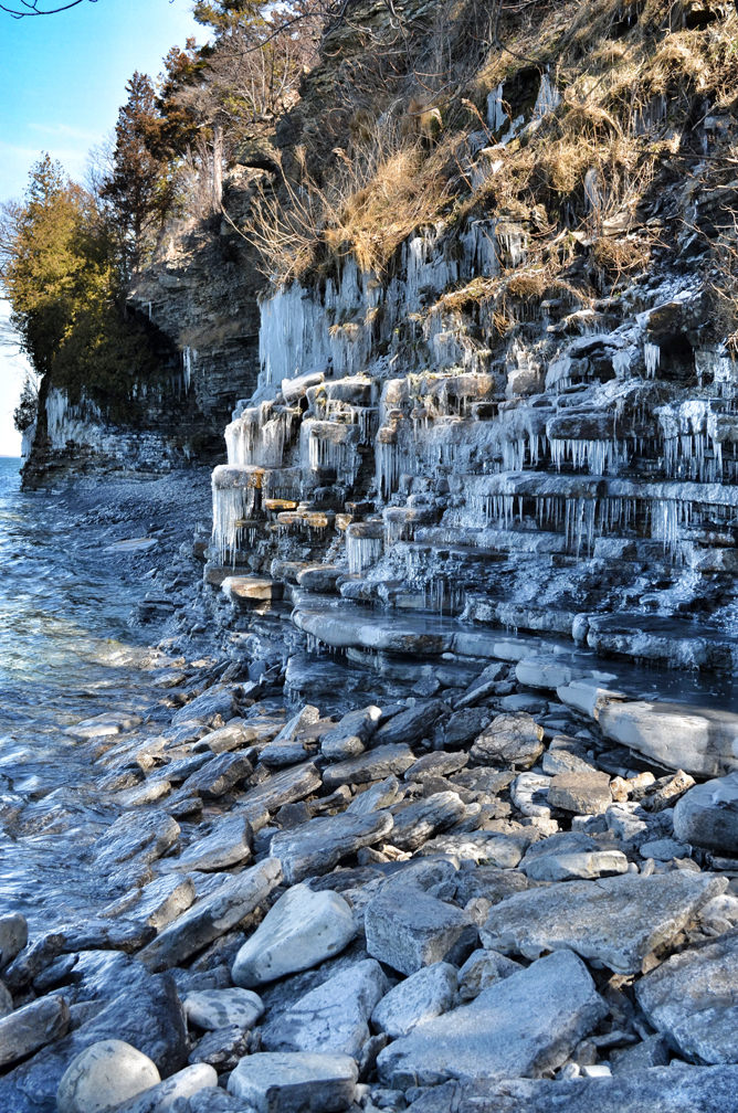 Frozen Cliff Face