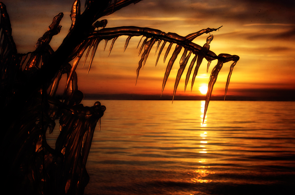 Icicle Sunset 2