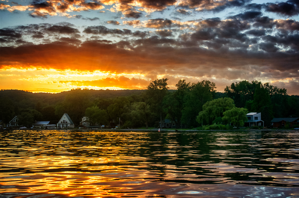 Sunset on Honeoye Lake