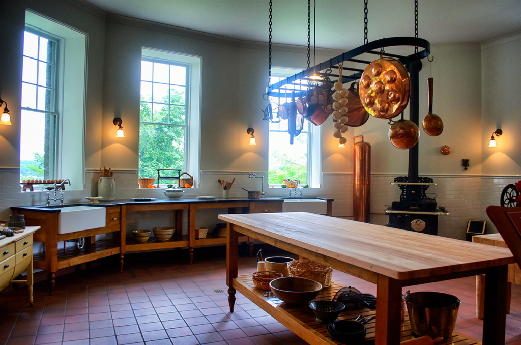 Kitchens inside Boldt Castle
