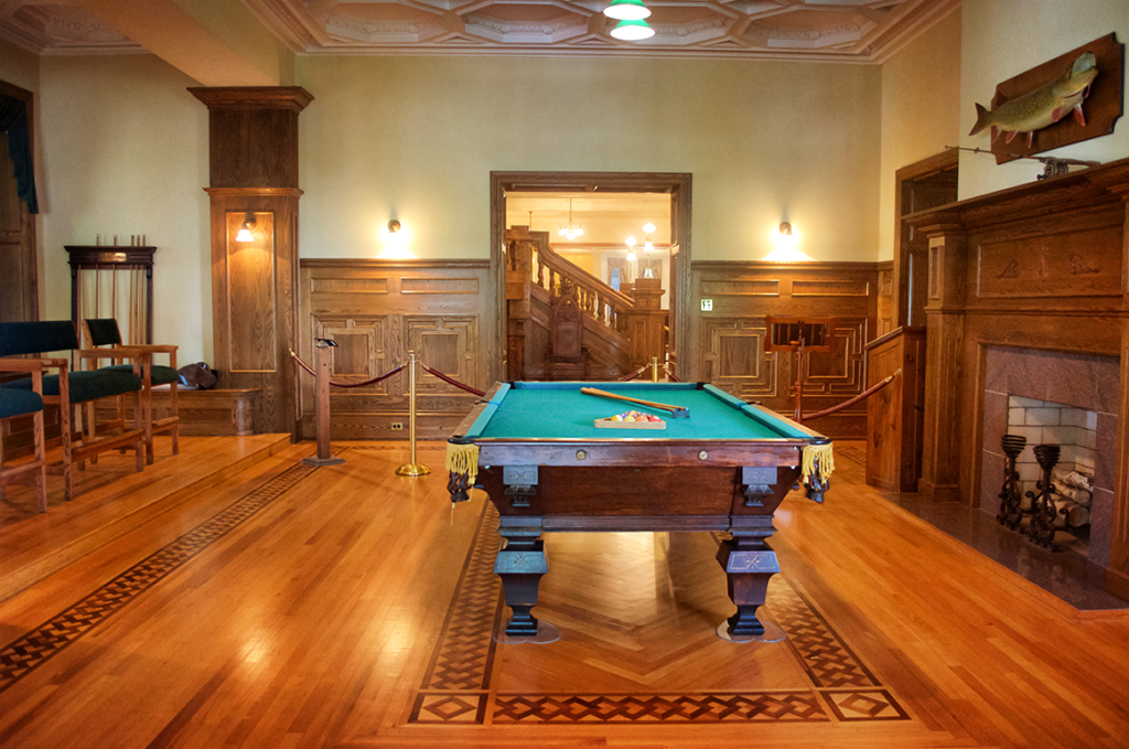 Billiard Room inside Boldt Castle