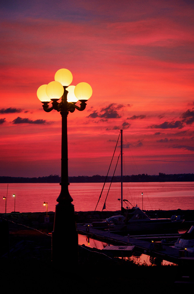Lamp posts in Madison Barracks, Sackets Harbor, NY