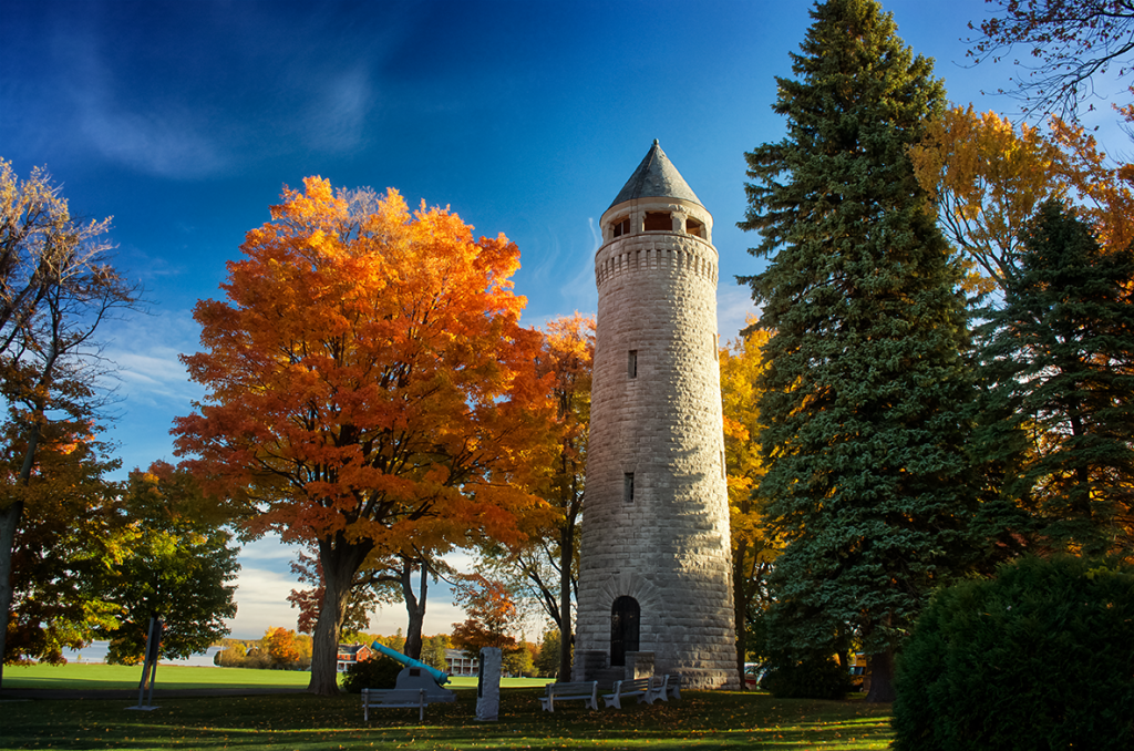 Madison Barracks Water Tower in Autumn Sackets Harbor Photo by Andrea Parisi