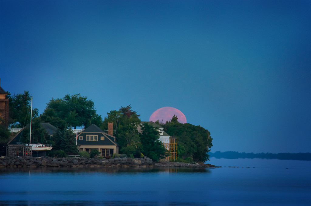 Pink Supermoon over Sackets Harbor Photo by Andrea Parisi