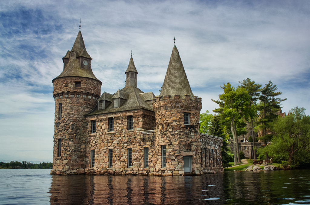 High waterline at the Boldt Castle Powerhouse