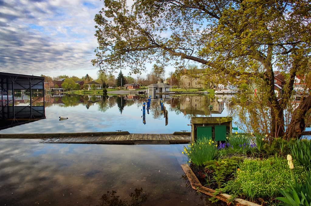 Flooding in Sackets Harbor, N.Y.